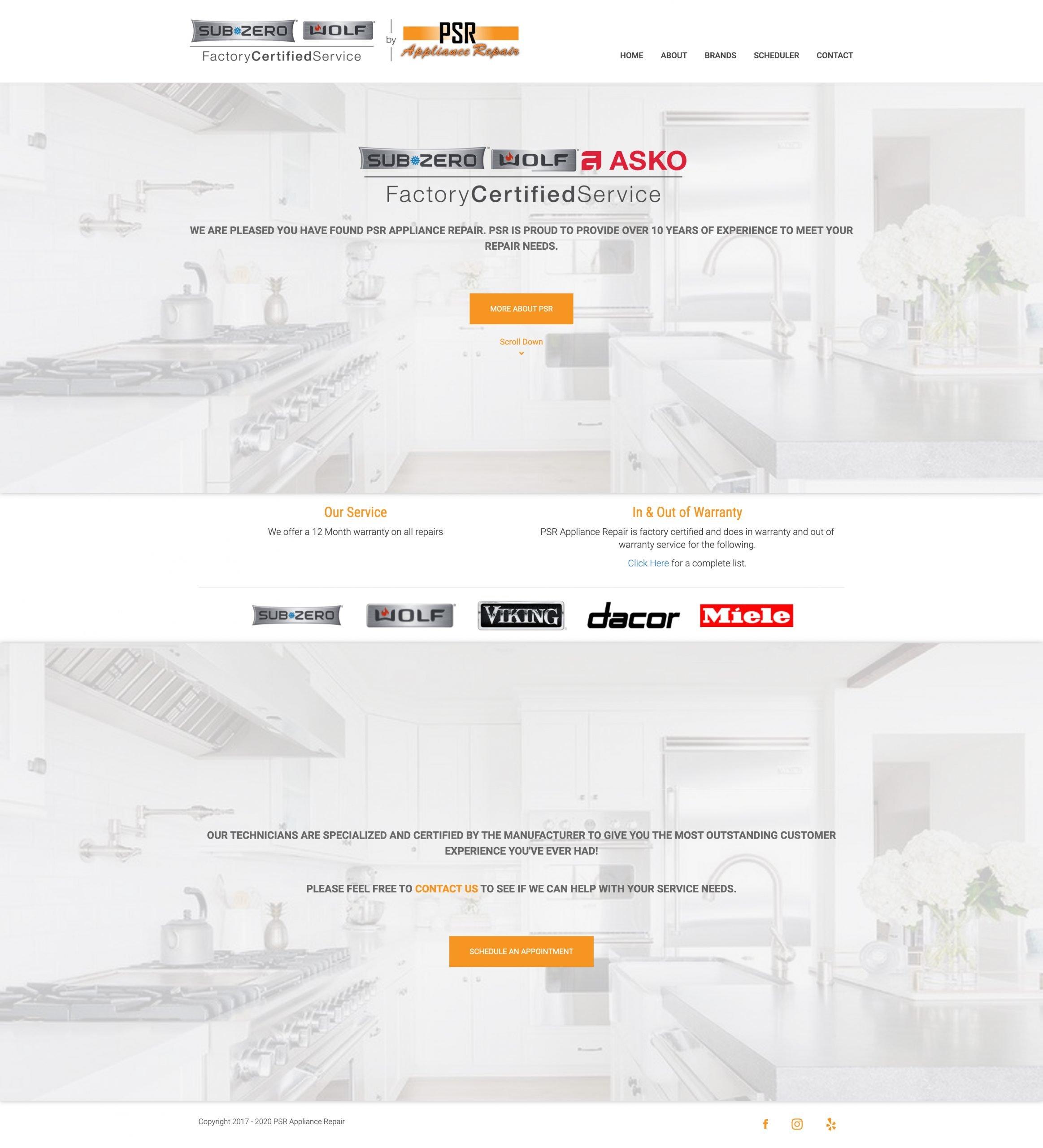 PSR_Appliance_Website